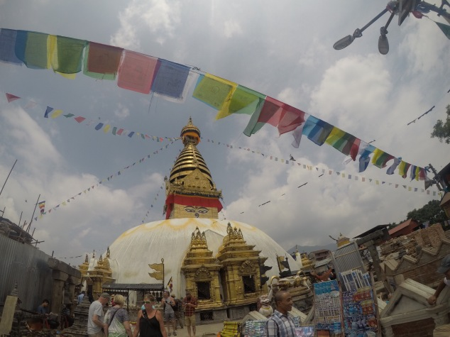 Stupa at Swayambhu (Monkey Temple)