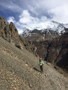 Landslide area on way to Tilicho Lake Base Camp