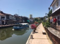 The canal walk in old town Melaka