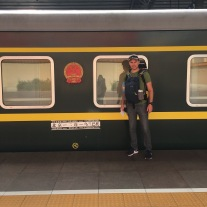 About to embark on the first leg of the Trans-Mongolian Railway from Beijing to Ulaan Bataar.